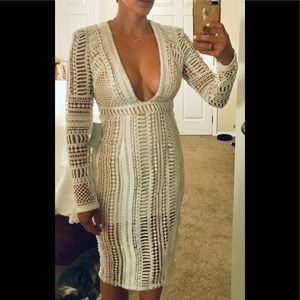 Missguided Crocheted Midi Dress